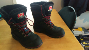New Pajar winter safety boots sz. 8, waterproof