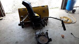 """John Deere 42"""" snowblower for garden tractor"""