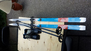 Karhu Cross Country Skis, Poles Ladies 8 Boots