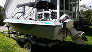 Opendeck 16 pieds Crestliner Nordic avec Johnson 120hp hors bord West Island Greater Montréal image 4