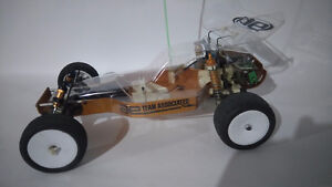 1984 b stamped team associated RC10 gold pan RC buggy $150