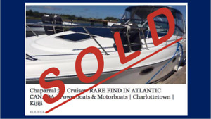 SOLD Chaparral 30' Cruiser. RARE FIND IN ATLANTIC CANADA