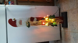 Selling various tole painted lighted christmas decor
