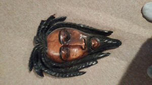 Hand carved Rasta mask
