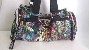 RARE small multi color prints ED HARDY duffle bag sac West Island Greater Montréal image 1