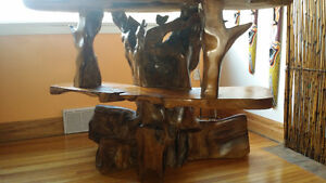 One of a kind exotic   wood carved tv stand Kingston Kingston Area image 3