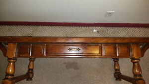 Vintage 70's Canadian Solid Wood Table
