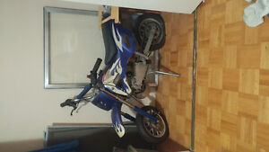 For Sale. Pocket Dirt Bike. Blue And White. 49cc