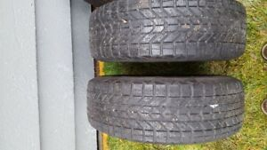 Snow Tires $200.00 Steel rims