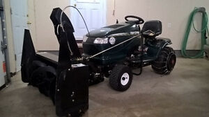 Craftsman tractor with mower and snowblower
