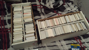 three 1500 count boxes of hockey cards