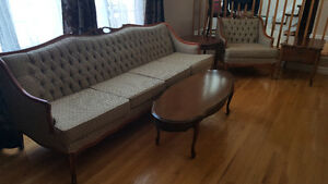 Impeccable Antique 4 seater and chair