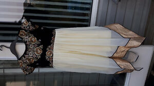 Brand new embroidered black and yellow kurta