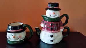 Snowman Tea Set