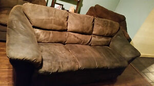 Coach, love seat and chair