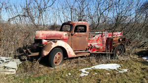 1940 Ford Fire truck would be a cool rat rod Project