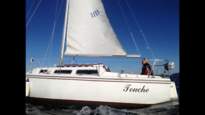 NICE SAILBOAT WITH FOUR SAILS INCLUDED