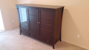 $100 OBO  solid wood TV chest