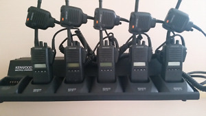 Kenwood  VHF radios and charging unit
