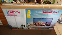 """Chinese Branded 55"""" Class 4K Ultra HD LED TV.  New. Unopened."""