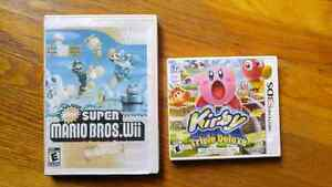 Wii and 3ds games
