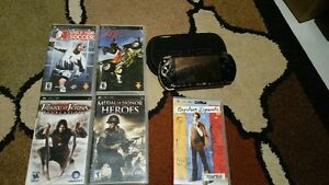 PSP with games+movie