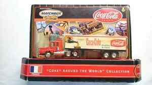 "MATCHBOX ""COKE AROUND THE WORLD COLLECTION"" SEMI TRUCK FRANCE"