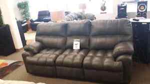 Liberty Grey Bonded Leather Couch