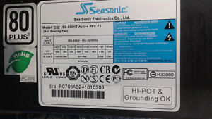 Seasonic S12 Energy 80+ 650W with 12cm Silent Fan Power Supply London Ontario image 1