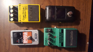 Effects pedals for sale.