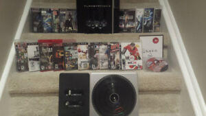 **** Great 80 GB PS3 Bundle All Cords Controller 19 Games ****