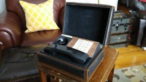 Cool! Original 1960s In-Case Desk Phone, Retro!