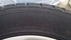 Dunlop  Winter Used 4 Tires with rims - good for one more winter West Island Greater Montréal image 2
