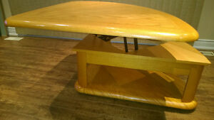 Oak Wedge Lift Cocktail / Coffee Table Kawartha Lakes Peterborough Area image 7