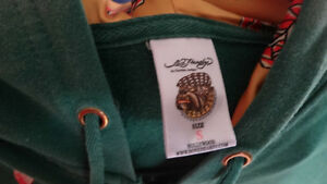 Ed Hardy Half sleeve zip up hoody Cambridge Kitchener Area image 4
