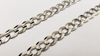 "8-1/2"" White Gold Cuban Link Bracelet"