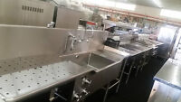 Stainless Steel Sinks, Work Stations, and Food Tables for Sale