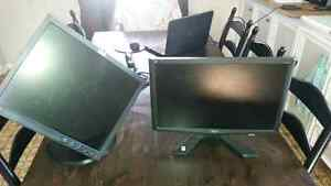 2 computer monitors for sale