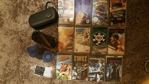 PSP Sony Game system + games + movies