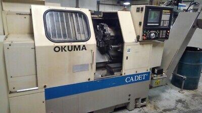 Used Okuma Cadet Cnc Lathe 1995 Lnc-8 10 Chuck Tailstock Chip Osp5020 Clean