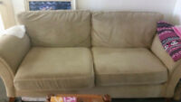 Mini Fridge  and very comfortable couch