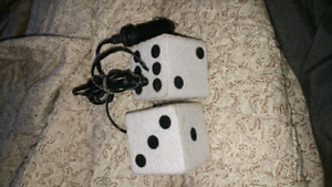 Fuzzy light up dice vehicle adaptor