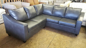 "Canadian Made Brand New Leather Corner Sectional 90""by 90"""