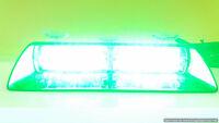 Volunteer Firefighter Green LED strobe warning dash light