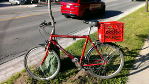 Red giant with basket Mudguards and bell ready to go