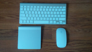 Apple Bluetooth KeyBoard + Apple BlueTooth Mouse + BT Trackpad