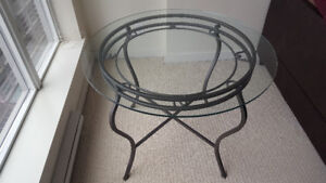 Round Glass Table Including 2 Chairs
