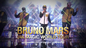 Bruno Mars Concert Tickets (Section 103 Row 27)