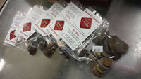 50+ FORIEGN COIN BAGS..... $8.00...