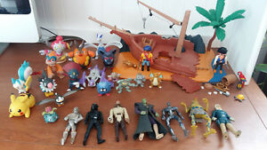 Star wars, playmobil, pokemon